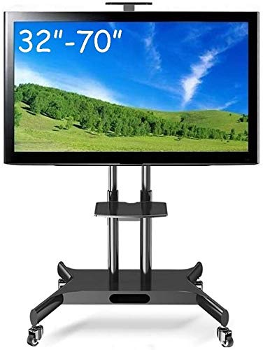 Soporte TV Ruedas Soporte TV Suelo For TV de rodadura durante 32 a 70 de la pantalla plana LCD LED pulgadas, giratorio universal portable de la carretilla de TV for Hospitales Aulas Empresa