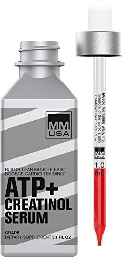 ATP Creatine Serum Pre-Workout Muscle Fuel with Amino Energy. Instant Absorption. High Energy Boost. Speeds Up Lean Muscle Growth, Increases Strength + Endurance, No Loading & No Water Retention