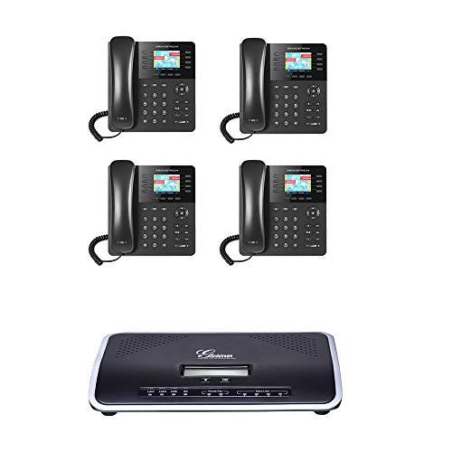 Grandstream GXP2135 IP Phone 4-UNITS with UCM6204 4 Port IP PBX Gigabit