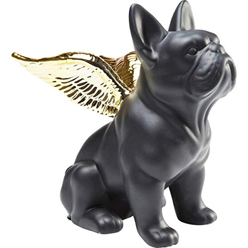 Kare Design Figur Sitting Angel Dog Deko, gold-schwarz