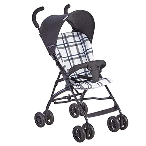 KHUY Jogger Baby Strollers,Lightweight Easy Fold Compact Travel Stroller,Self-Standing Folding Design (Color : White, Size : A)