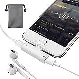 iPhoneイヤホン変換アダプター ライトニングコネクタ ヘッドフォンジャック ヘッドホン変換ケーブル 充電ケーブル harborii 音楽/充電/通話同時 iPhone12/11/XR/X /7/8/8 Plus/X iOS 14.1以降対応 コンパクト端子 互換 ホワイト