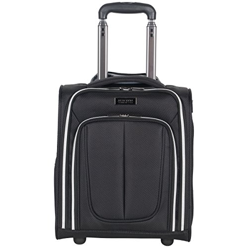 Kenneth Cole Reaction Lincoln Square 16' 1680d Polyester 2-Wheel Underseater Carry-on, Black