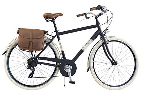 Via Veneto By Canellini Fahrrad Rad Citybike CTB Herren Vintage Retro Via Veneto Alluminium (Schwarz, 54)