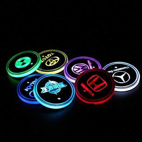 LIUJUAN LED sottobicchiere Sottobicchieri Antisdrucciolevoli di Ricarica per Luce Solare USB Colorati sottobicchieri d'Acqua per Auto a LED Colorati sottobicchieri d'Acqua-Car Custom (Messaggio)_M