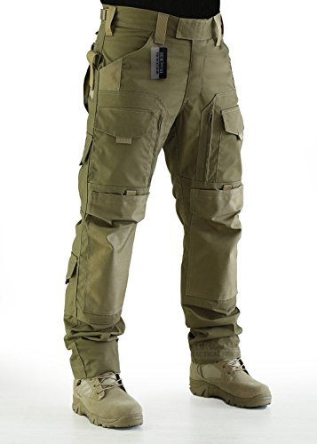 ZAPT Tactical Molle Ripstop Combat Trousers Army Multicam/A-TACS LE Camo Pants for Men (Coyote Brown, S)