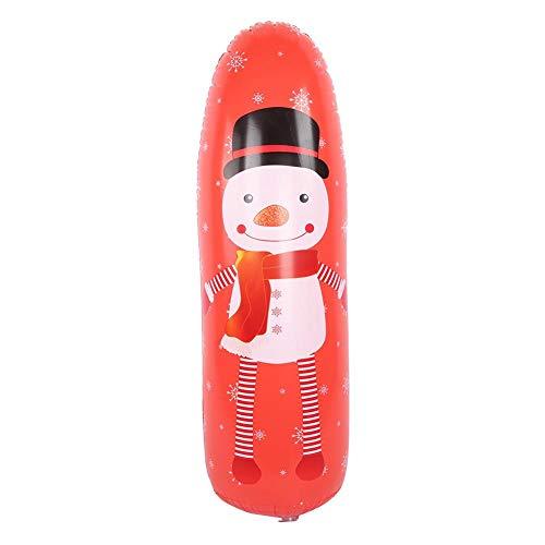 Akozon aufblasbare Boxsack Training Tumbler Sportspielzeug Druckentlastung Zubehör für Kinder Kinder Erwachsene(1.2m-rot)