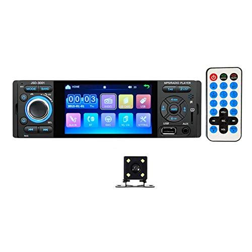 Greatangle-UK Pantalla HD de 4.1 Pulgadas FM TF USB SD Spiegel Link Autoradio 1 DIN Auto Radio Mp5 Speler Radio estéreo Cassette Speler Pantalla táctil