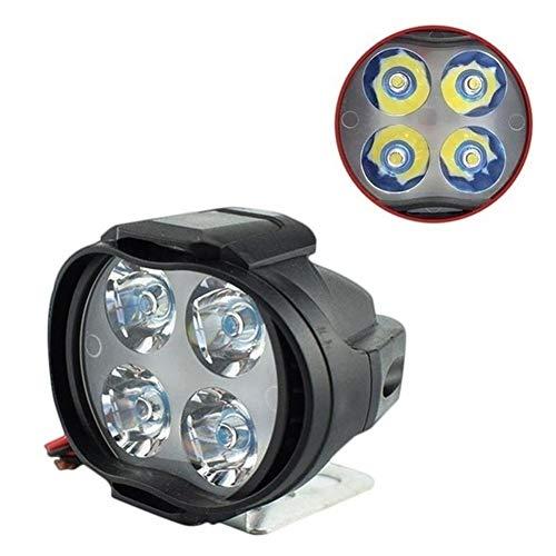 Fyeep Motorrad Scheinwerfer vorne Motorrad Frontscheinwerfer 12W 4 LED wasserdichte LED Motorrad Nebelscheinwerfer Lampe für DC 9-85V Fahrzeuge für Motorräder Autos LKW