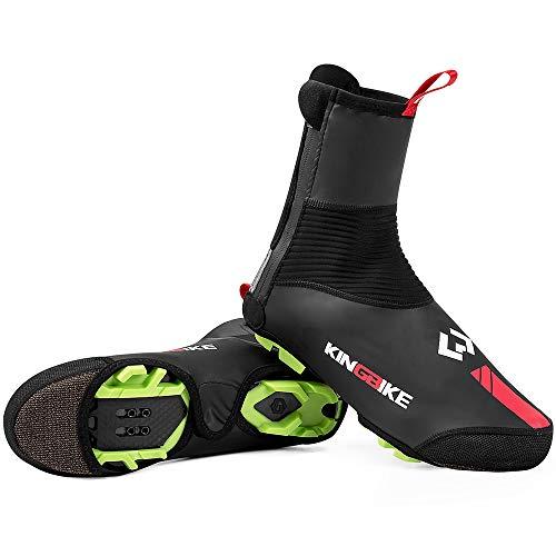 KING BIKE Cubierta de Zapatos Cubrezapatillas de Ciclismo con Protección de la Correa Reflectante/Selladas Cremallera (Style 1(XXL))