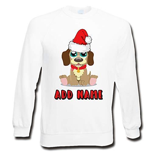 LULAH BLU Sudadera de Navidad Personalizable para Adulto, diseño de Cachorro de Perro