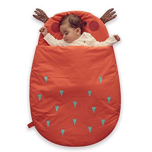 Bebamour Anti Kick Baby Sacco a pelo Safe Nights Sacco a pelo Baby in cotone 2.5 Tog 0-18 mesi e sopra Cute Infant Boy Sacco a pelo Baby Wrap Blanket (Arancia)