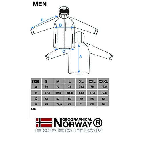 Geographical Norway Hombre de Tacto Suave Funciones Chaqueta para Exterior Impermeable - Negro, Large