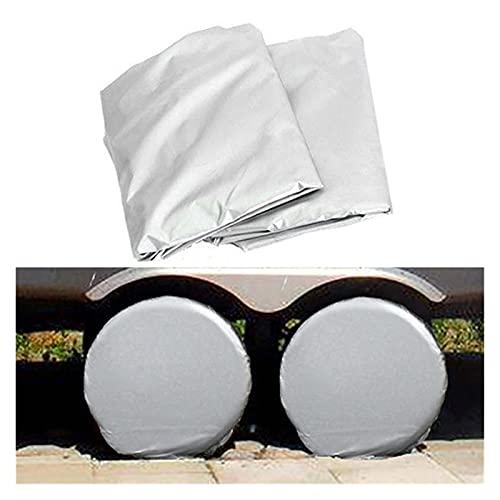 LIUWEI 2 unids 27-29 Pulgadas Impermeable Cubierta de Rueda de automóvil Cubiertas de neumáticos Protector de Sol Apto para RV Auto Car Camper Cubiertas de neumáticos universales