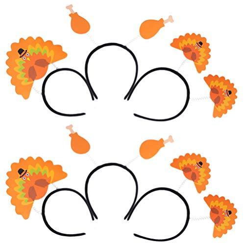 FRCOLOR 6 Stück Truthahn Stirnband Thanksgiving Head Boppers Haar Reifen Kopfbedeckung Kopfbedeckung Thanksgiving Cosplay Prop Kostüm für Frauen Mädchen