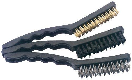 Draper 4864 Set de 3 brosses laiton/nylon/acier inoxydable