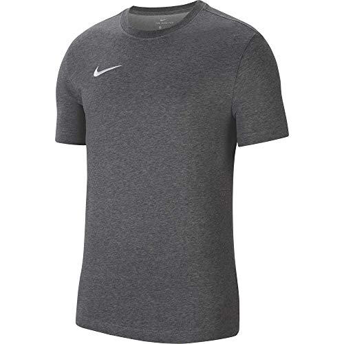 NIKE M NK Dry PARK20 SS tee T-Shirt, Mens, Charcoal Heathr/White, S