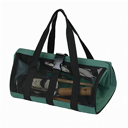 XFSD Best Open Top Electricians Tool Bag, Stiff Frame Tote Tool Box, Tool Bin, Wide Mouth Tool Tote Bag with Inside Pockets for Tool Storage, for Outdoor, Garden, Planting, Picnic