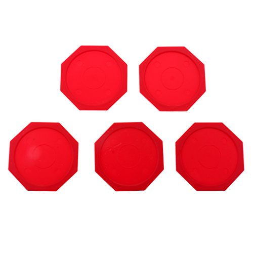Great Features Of LEIPUPA 63mm Air Hockey Pucks Octagon Pucks Replacement for Game Tables, Set of 5 ...