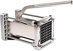 French Fry Cutter, CUGLB Professional Commercial Grade Heavy Duty Potato Chipper Cutter with 1/2 Inch Cutting Blades for Potatoes, Carrots etc.