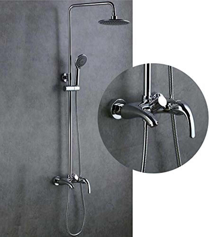 LWUDI Duschsystem Duscharmatur Regendusche Set, Full Lift alle Bronze-Dusche Warm und kalt, eine Dusche Duschkopf, verstellbare Duschkpfe Handheld, Handbrause Hochdruck