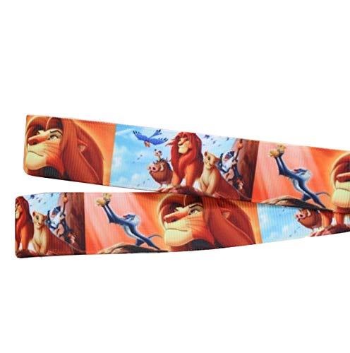 Lion King - Cinta para decoración de tartas de cumpleaños personalizada, 2 m x 22 mm de ancho, ideal para envolver regalos, lazos para bolsas, cajas de globos, tarjetas, cinta de manualidades
