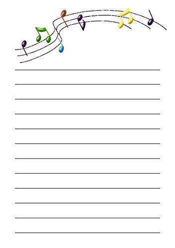 25 A5 Motif musical/d'écriture sur le thème des petits Établissements papier – Uni papeterie