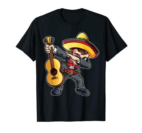 Dabbing Mariachi T Shirt Cinco de Mayo Kids Boys Men Mexican T-Shirt