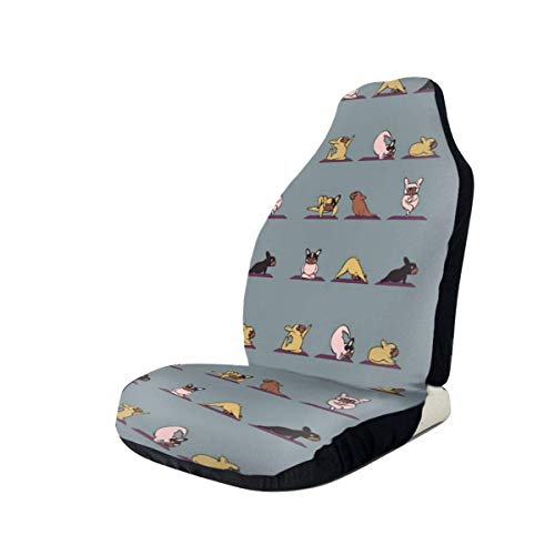 Fundas de asiento para coche French Bulldog Puppy Elastic Bucket Funda de asiento Universal Fit Most Car 2PC
