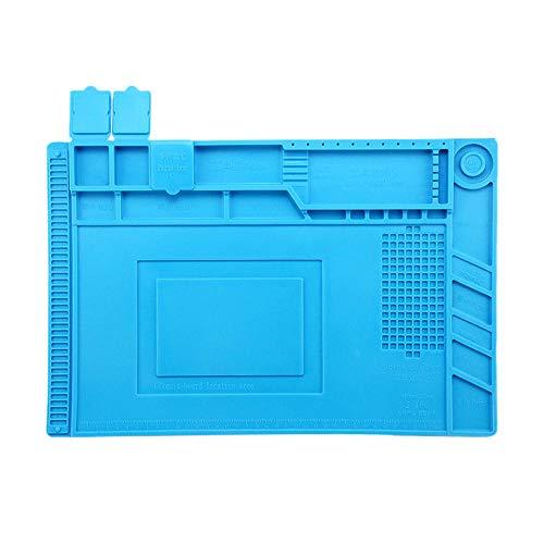GoodFaith Schreibtisch Magnetmatte Hitzebeständige Silikonunterlage Schreibtischmagnetmatte Elektronische Leiterplatte BGA Lötreparatur Isoliermatte für Handy Telefon Reparatur