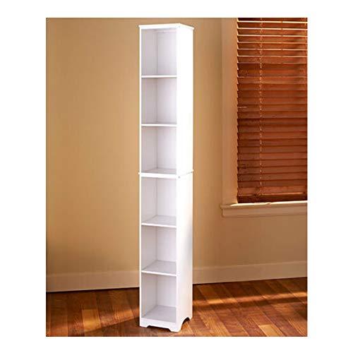 Review Of Thaweesuk Shop Slim Wood Storage Tower White Cabinet Bathroom Kitchen Apartment 9 sq. x 6...