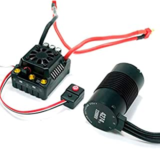 Hobbywing EzRun Max8 v3 150A Waterproof Brushless ESC 4274 2200KV Motor LED Programing for 1/8 RC Car Truck (T Plug)