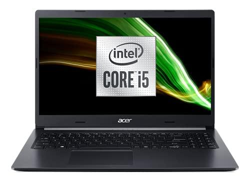 Acer Aspire 5 A515-55-58R8 Intel Core i5 Ordinateur Portable 15.6'' FHD, PC Portable (RAM 16Go, SSD 512Go, Intel UHD Graphics, Windows 10) - Clavier AZERTY (Français), Laptop Noir