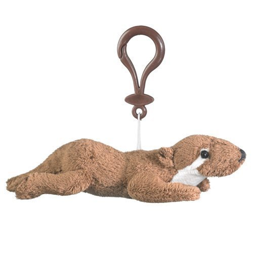 Plush River Otter Stuffed Animal Backpack Clip Toy Keychain WildLife