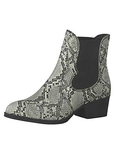 Tamaris Damen Stiefeletten Grau/Snake, Schuhgröße:EUR 41
