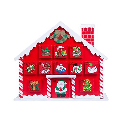 Fgolphd Calendario de Madera advenimiento de la Navidad con el Calendario Caja...