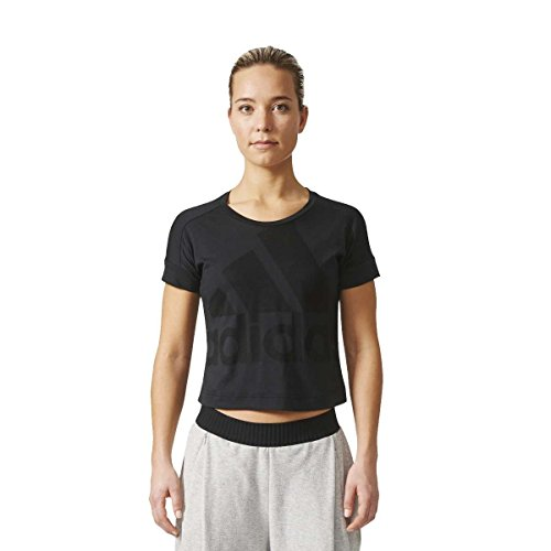adidas Baseline tee Camiseta, Mujer, Negro, S