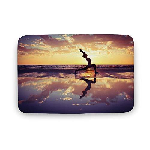 Viowr22iso Bathroom Mat Rugs, Beach Yoga Pilates Fitness Exercise Mum Non Slip Bath Rug Super Cozy Carpet for Kitchen Indoor Entryway 50x80 cm