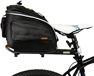 Ibera PakRak Quick-Release Commuter Bike Trunk Bag and Seat-Post Bicycle Carrier Rack Combo