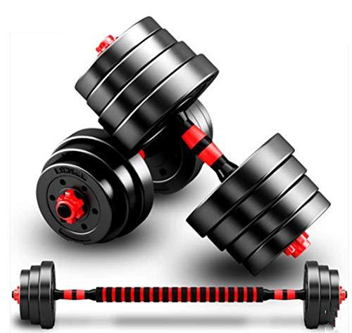 Phil Beauty Hanteln Langhantelset Mit Pleuel 20-30KG Verstellbare Hanteln Für Männer Und Frauen Body Workout Home Gym Home rutschfest Schnelle Und Einfache Installation,20kg