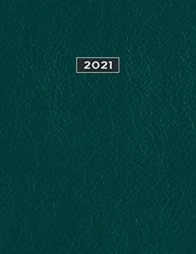 2021: Kalender XXL 2021 I Tagebuch I Terminkalender I Office Planer I Kalenderbuch I DIN A4 I 1 ganze Seite pro Kalendertag I Endlich genügend Platz ... und Notieren! I Farbe Petrol Grün