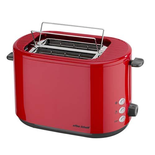 efbe-Schott SC TO 1080.1 ROT Design-Toaster mit klappbarem Brötchenaufsatz, Metall, Kunststoff