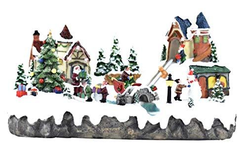 Preciosa Pueblo Navidad Noel Animado Home Luxury