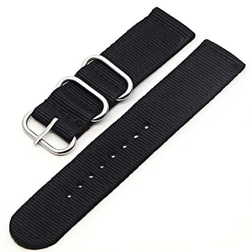 Reloj de bolsillo 6 Pulsera de color Correa de nylon Banda de reloj de hebilla negra Compatible con Samsung Gear S3 Frontier S2, Banda de reloj Correa 18 mm 20 mm 22 mm 24 mm Reloj de bolsillo de cuar