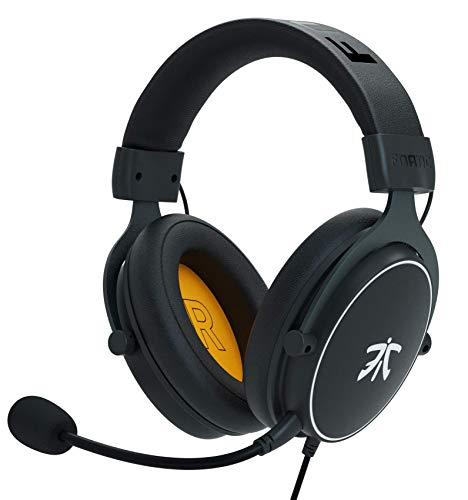 Cuffie da gioco Fnatic REACT per PS4/PC con driver da 53 mm, audio stereo e controlli in linea, di tipo Over-Ear con padiglioni in Soft Memory, per Xbox One/Disposotivi Mobili/Switch/Mac