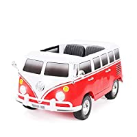 Actionbikes Motors Kinder Elektroauto VW Bus Bulli T1 Samba Camper Kinderauto Elektro Auto lizenziert 35 Watt Motoren 2 Personen in vielen Farben (Weiß/Rot)