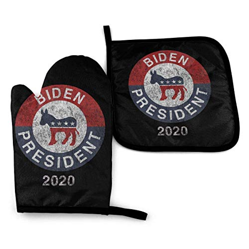 lymknumb Joe Biden 00 für Presiden Ofenhandschuhe und Topflappen-Sets Küchen Hitzebeständige Ofenhandschuhe zum Grillen Kochen Backen, maschinenwaschbar (-Stück-Sets)
