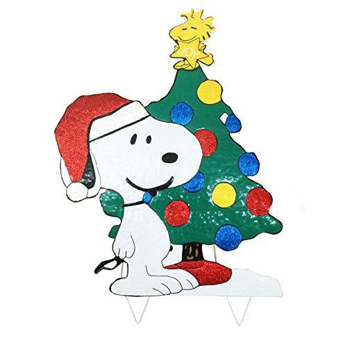 Peanuts Worldwide Weihnachtsdekoration, 81,3 cm, Snoopy mit Woodstock, Erdnüsse