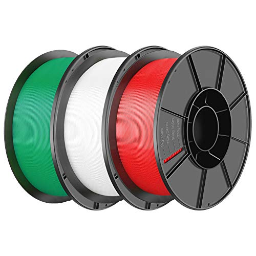 PLA Filament 1.75mm 3D Printer Consumables Filamento Impresora 3D, Dimensional Accuracy +/- 0.05 mm [Red,White,Green]