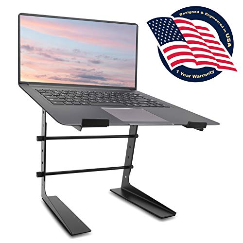 Pyle Portable Adjustable Laptop Stand - 6.3 to 10.9 Inch Anti-Slip Standing Table Monitor or...
